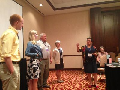 Leading an improv exercise at the Annual Greenleaf Center for Servant Leadership Conference, 2013, Indianapolis