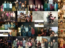 Collage of improv troupe - The Letters, 2014.