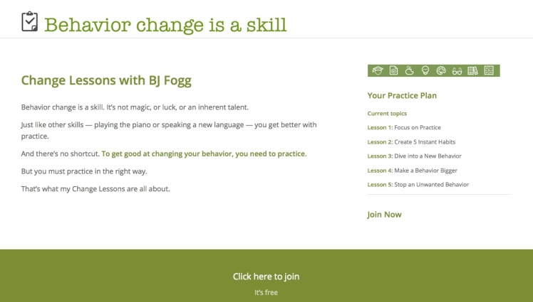 ChangeLessons page